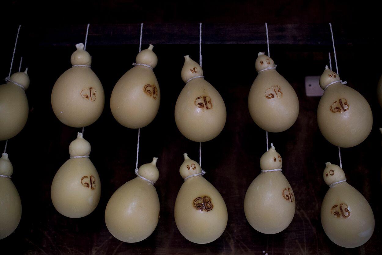 Caciocavallo cheeses